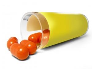 pills spilling out of bottle